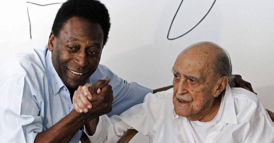 Pelé e Niemeyer