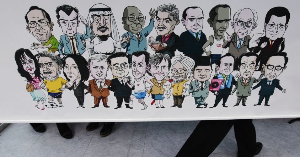 Caricaturas no G20