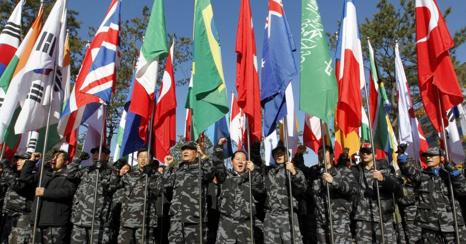 Bandeiras no G20