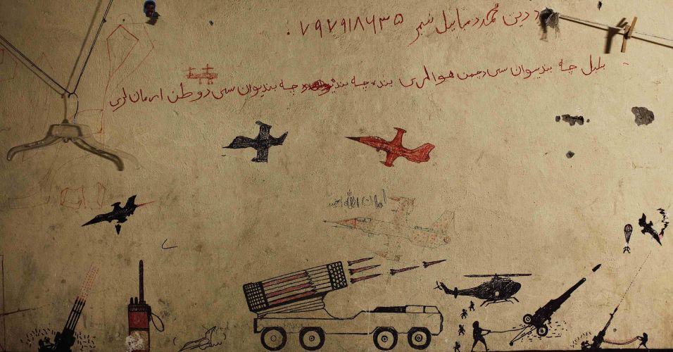 Desenhos no Afeganistão
