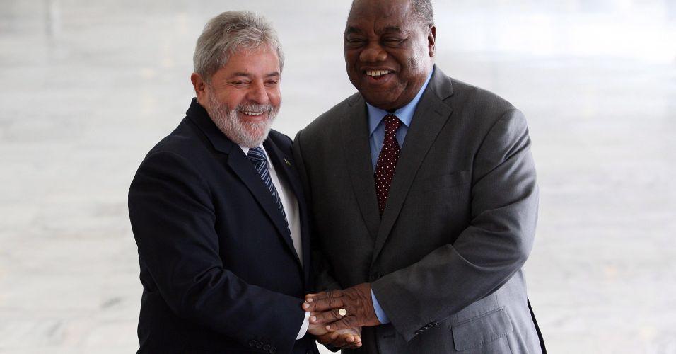 Lula e presidente da Zâmbia