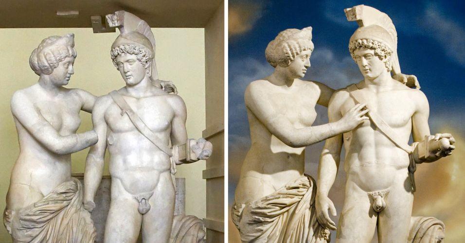 Vênus e Marte restauradas