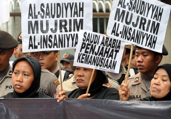 Manifestação na Indonésia