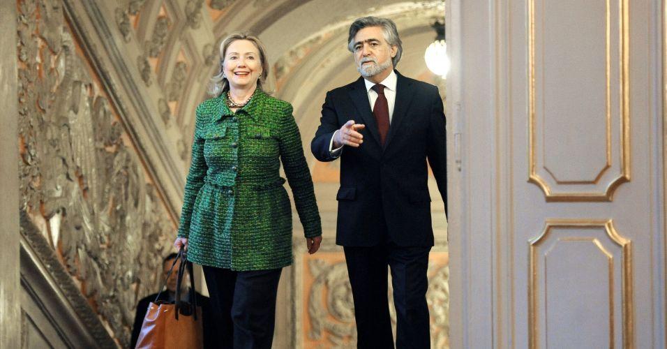 Hillary Clinton chega a Lisboa