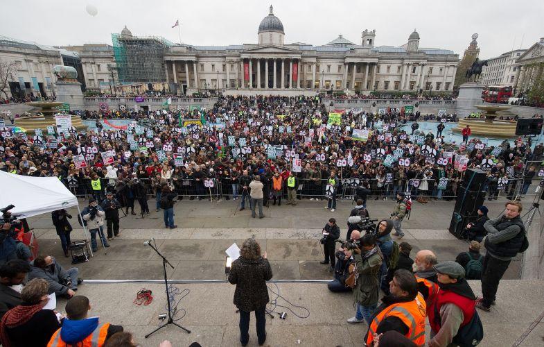 Protesto na Inglaterra