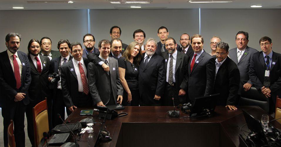 Lula e blogueiros