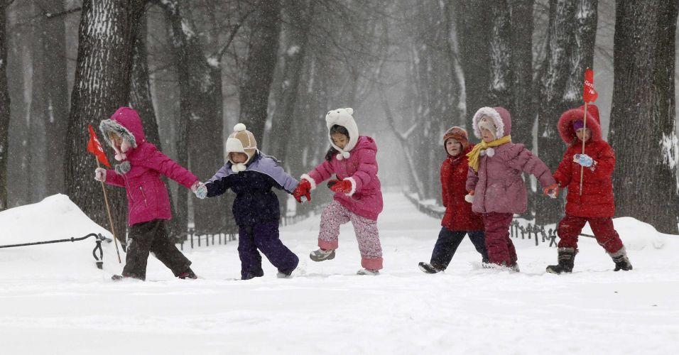 Neve na Rússia