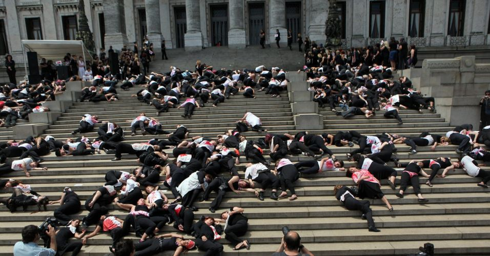 Protesto no Uruguai
