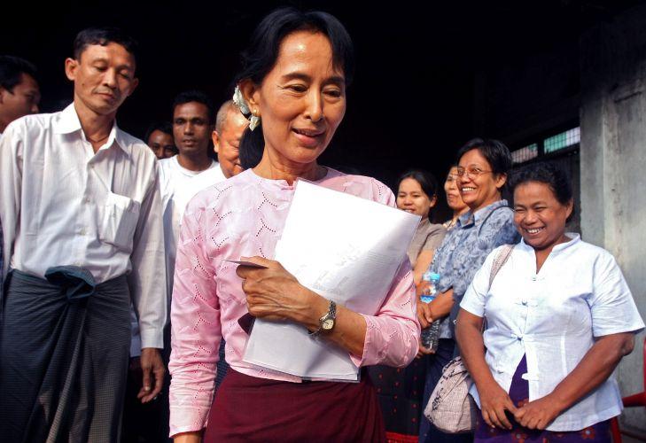 Suu Kyi em Mianmar