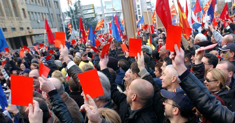 Protesto na Macedônia