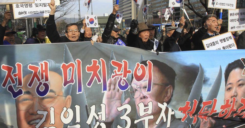 Protesto contra a Coreia do Norte