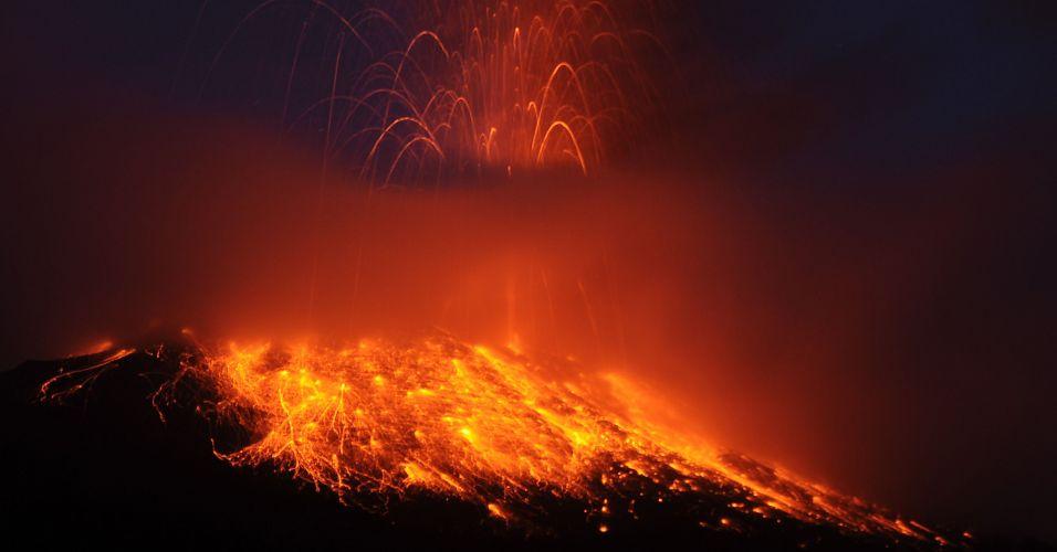 Vulcão no Equador