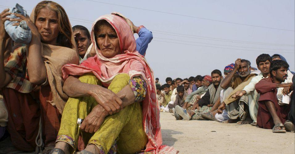 Desabrigados no Paquistão