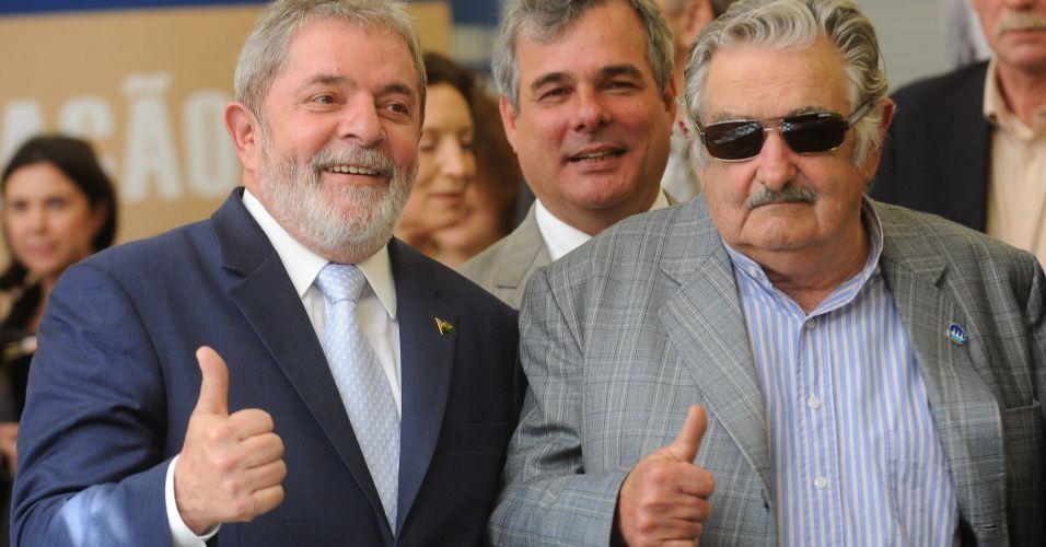 Lula e Mujica na UnB