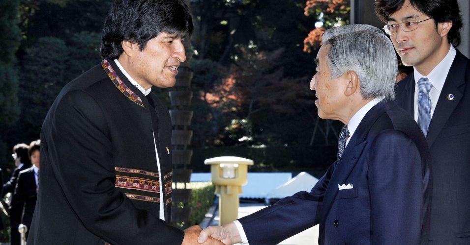 Presidente boliviano Evo Morales visita o Japão