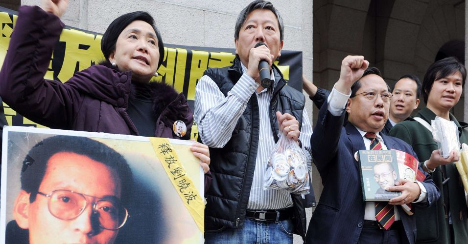 Manifestação pede libertação de dissidente chinês