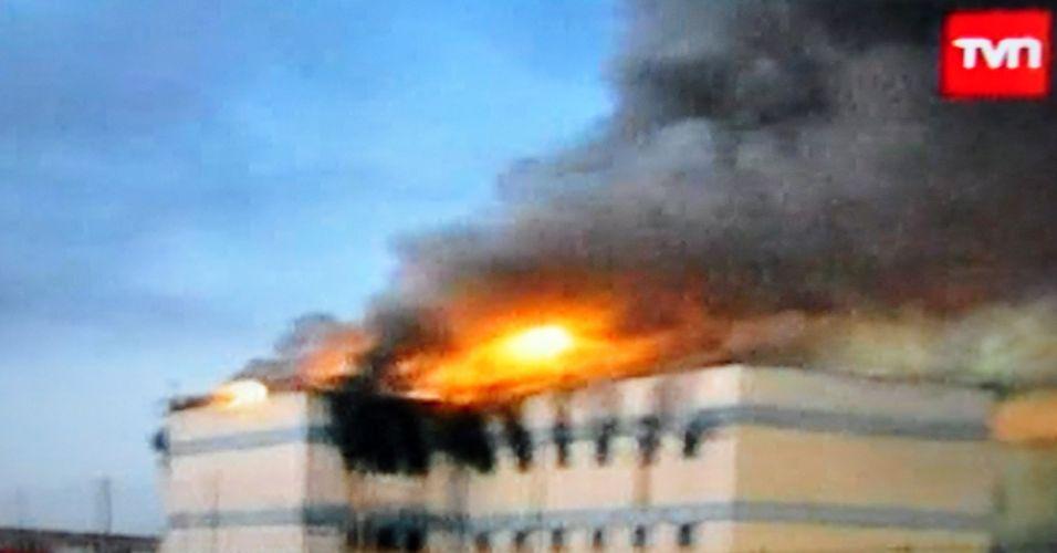 Incêndio no Chile