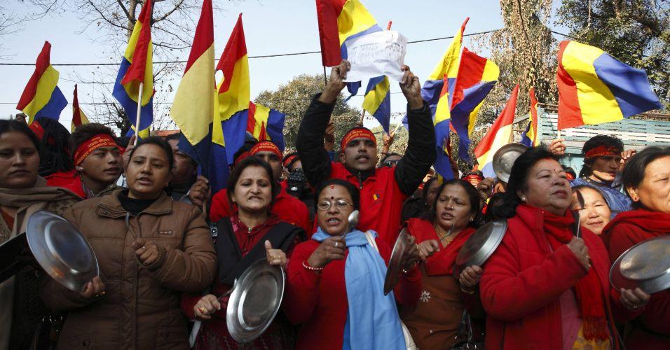 Protesto no Nepal