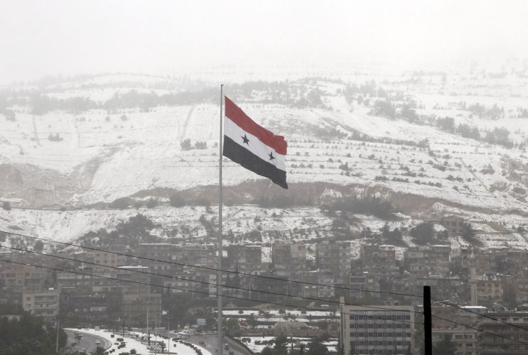 Neve na Síria