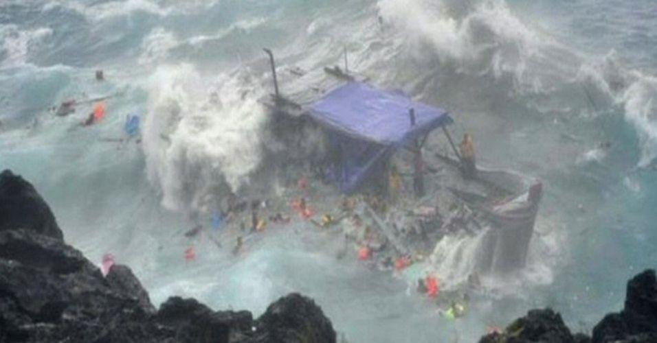 Embarcação afunda na Austrália