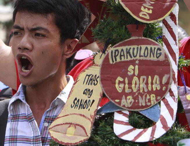 Manifestação em Manila