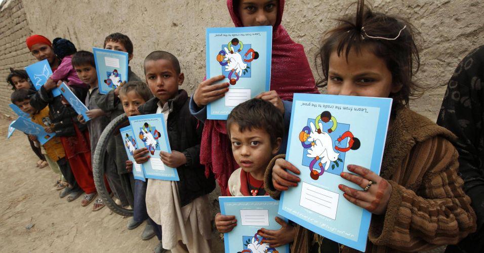 Livros para crianças afegãs