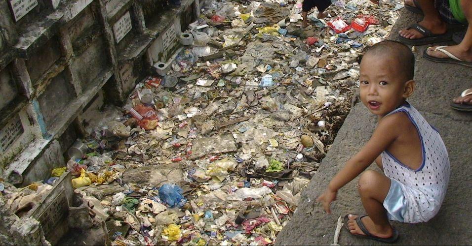 Moradia improvisada em Manila
