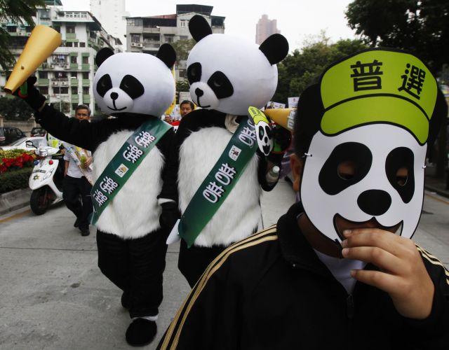 Protesto em Macau