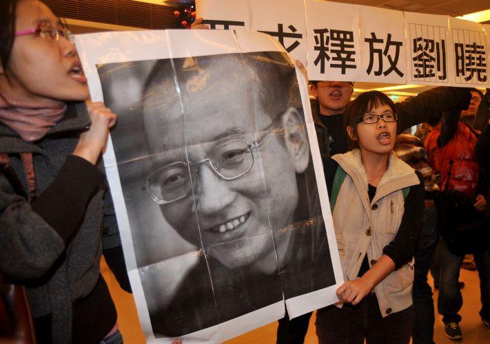 Protesto por Liu Xiaobo