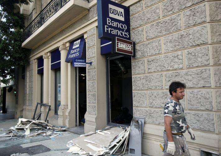 Agência bancária explode em Buenos Aires