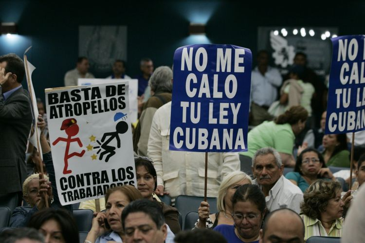Manifestação contra Hugo Chávez