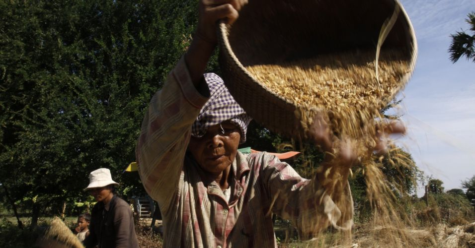 Fazendeiros no Camboja