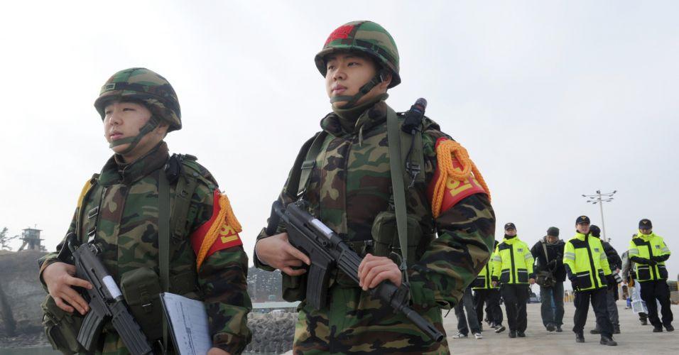 Soldados na Coreia do Sul