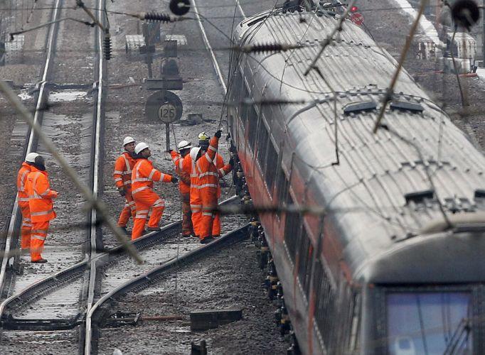 Falha elétrica em trens