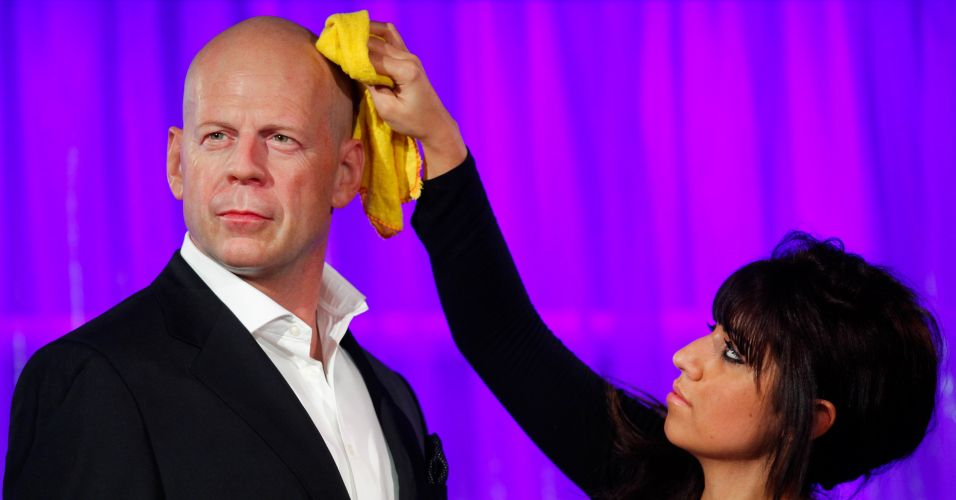 Bruce Willis em cera
