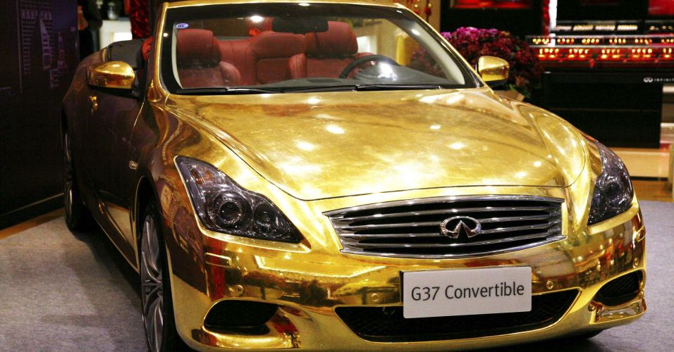 Carro de ouro na China