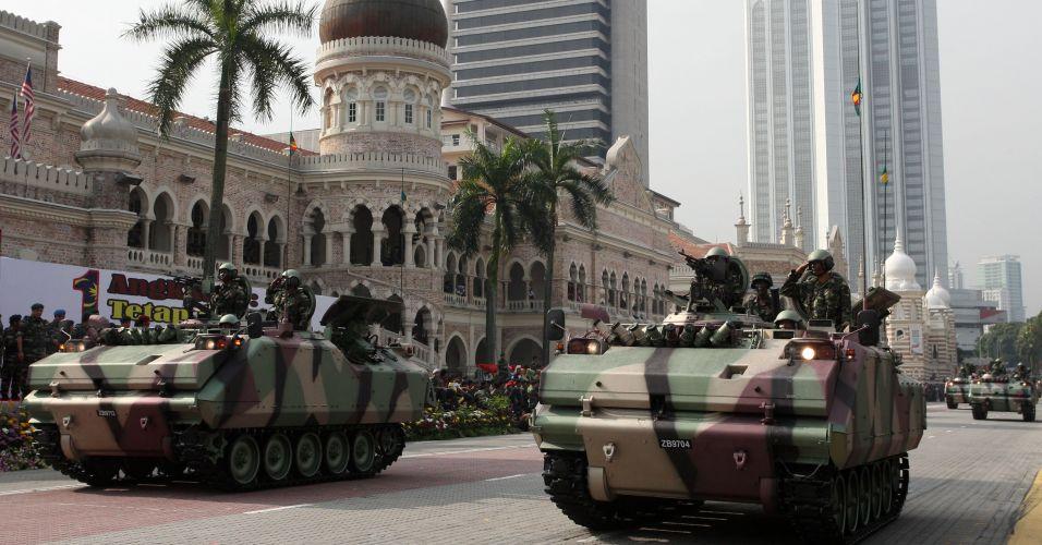 Parada militar na Malásia