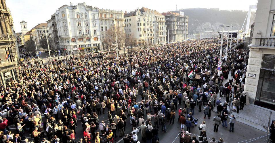 Protesto em Budapeste