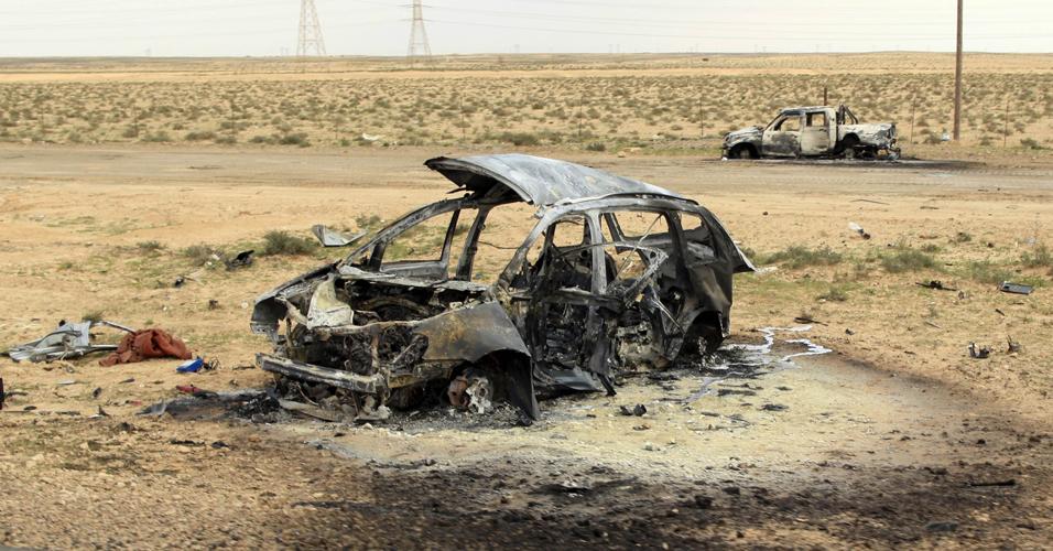 Carro em Ajdabiyah
