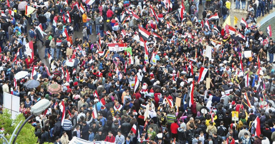 Protesto a favor de Bashar al-Assad