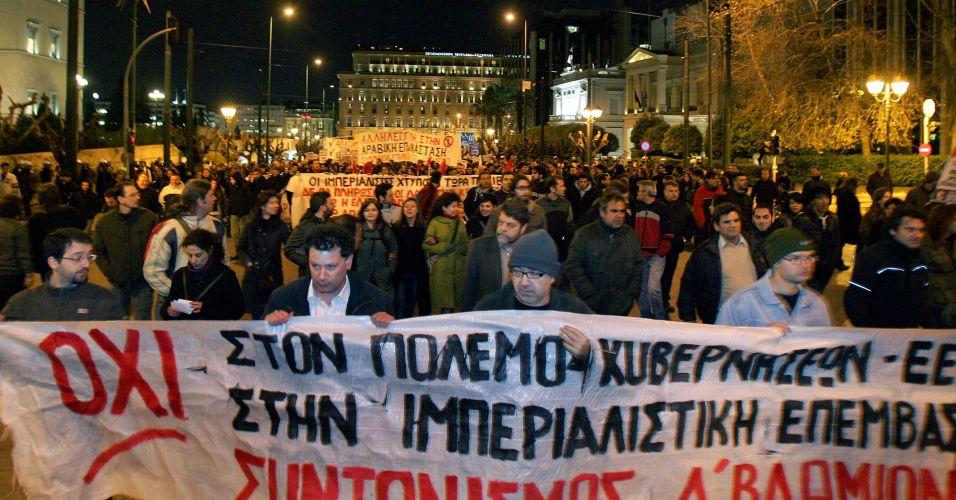 Gregos contra intervenção