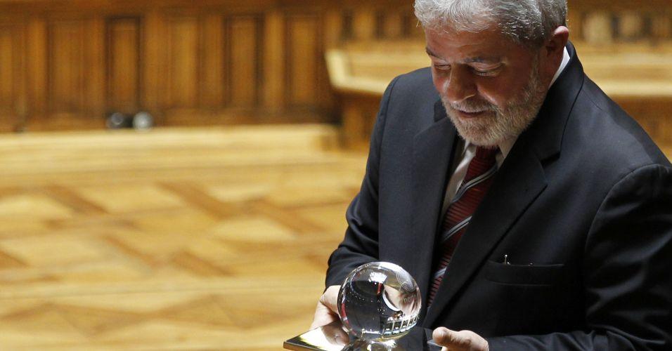 Lula recebe prêmio