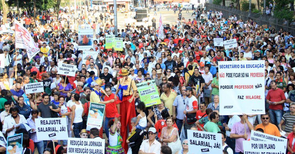 Protesto de professores em SP