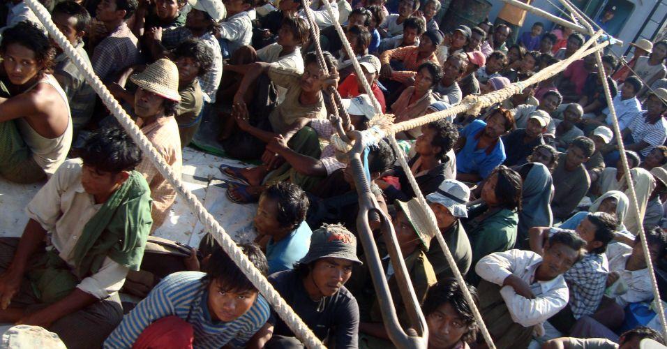 Pescadores em Mianmar