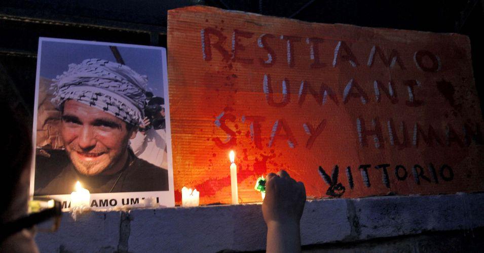 Homenagem a ativista italiano