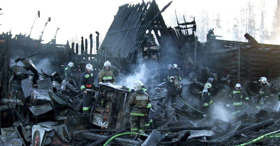 Incêndio na Rússia