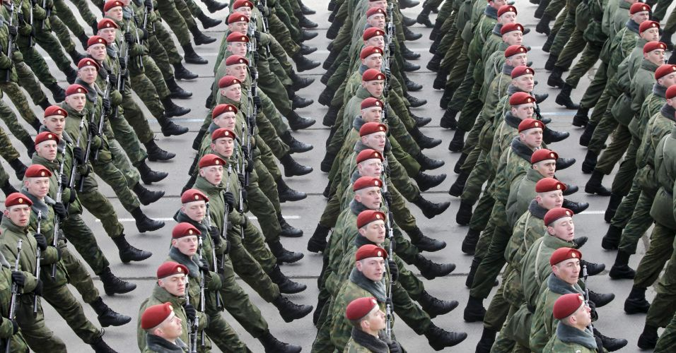 Ensaio militar na Rússia