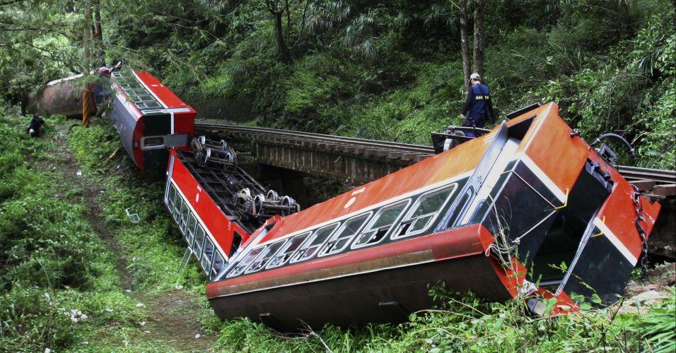 Acidente de trem em Taiwan
