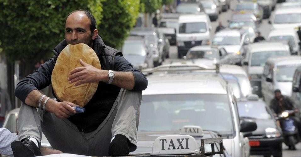 Protesto contra impostos no Líbano