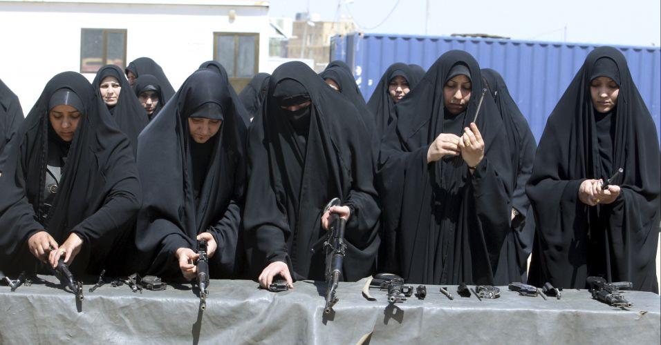 Mulheres policiais treinam no Iraque